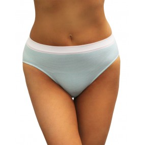 Comfort Fit Pinstripe Seamless Hi-Cut Brief-4pk